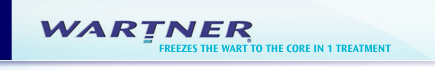 WARTNER Freezes the wart to the core in 1 treatment