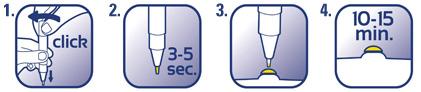 /></span></span></p> <ul><li>Sujete el Stick de forma vertical con la punta del pincel hacia abajo.</li> <li>Haga click/gire despacio en el sentido de las agujas del reloj la parte superior del Stick y eche el gel.</li> <li>Deje que el gel empape el pincel de 3 a 5 segundos. Aplique con cuidado el gel solo sobre la verruga común o plantar (evite tocar la parte de piel sana de alrededor).</li> <li>Deje que el gel se seque durante 10-15 minutos antes de ponerse zapatos o ropa. Puede que se requiera girar el Stick varias veces hasta formar una gota de gel cuando se usa por primera vez.</li> </ul><p><span><span><span>Puede que se requiera girar el Stick varias veces hasta formar una gota de gel cuando se usa por primera vez. El Stick Wartner by Cryopharma para verrugas debe aplicarse dos veces al día durante 4 días, tras los cuales deberán dejarse 4 días de descanso. Si fuera necesario, el tratamiento podrá repetirse hasta 4 veces (solo se necesita 1 gota de gel por aplicación). Si la verruga común (o la verruga plantar) es pequena (del tamano de una cabeza de alfiler), aplicar el gel solo una vez al día.</span></span></span></p> <h4><span style=